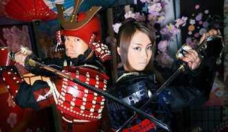 甲冑と日本刀でかっこいいサムライに変身しよう!
